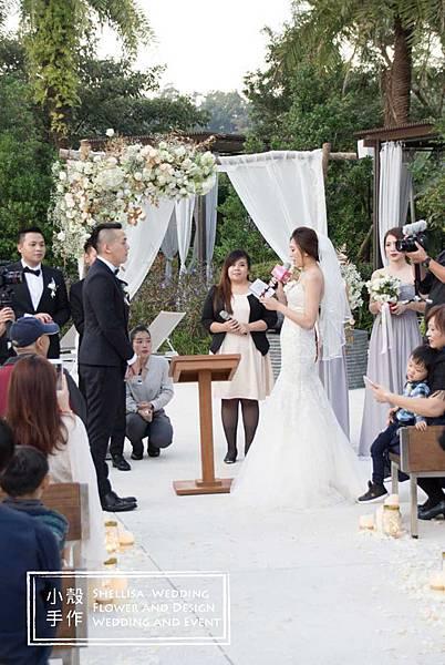 木頭花拱門 證婚佈置