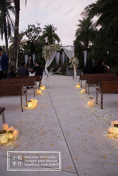 證婚區走道燈光婚禮佈置