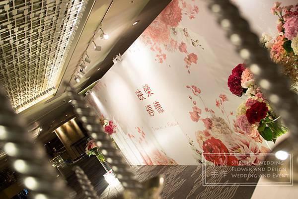 晶華酒店 婚禮背板