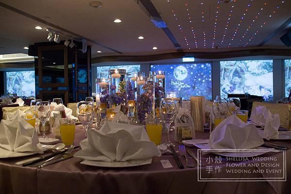華國大飯店婚禮佈置 主桌花藝設計
