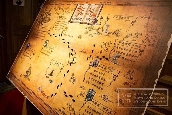 哈利波特主題婚禮佈置 地圖