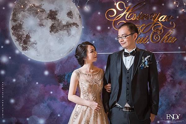 華國大飯店星空下婚禮佈置