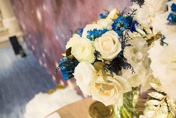 星空主題婚禮 華國大飯店 白藍花藝