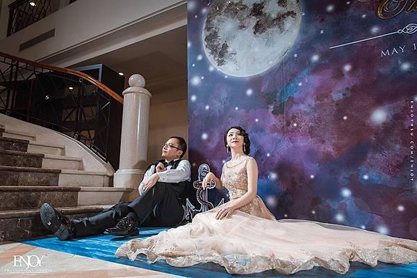 星空下婚禮佈置 華國大飯店 拍照背景