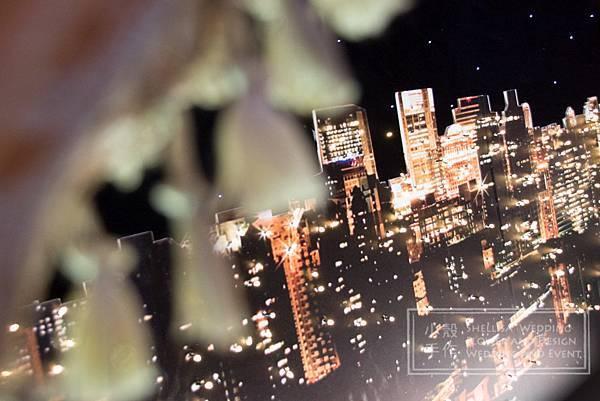 東方文華酒店 夜景背板舞台佈置