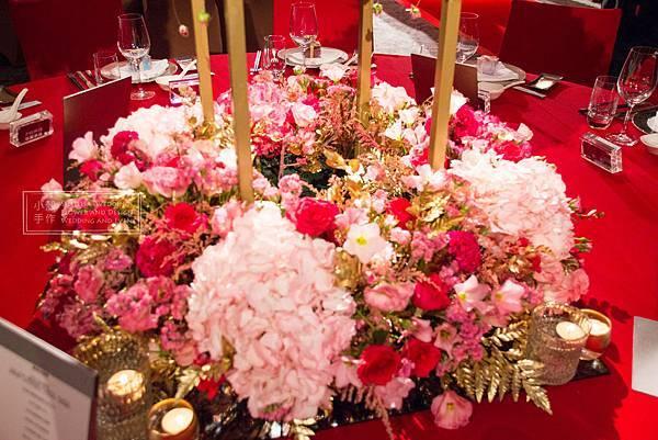 寒舍艾美酒店 主桌花婚禮佈置