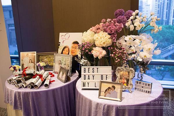 相片桌佈置 寒舍艾美酒店 婚禮佈置
