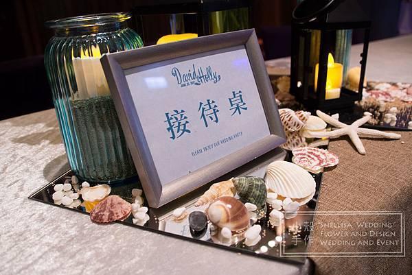 海洋風婚禮佈置w hotel
