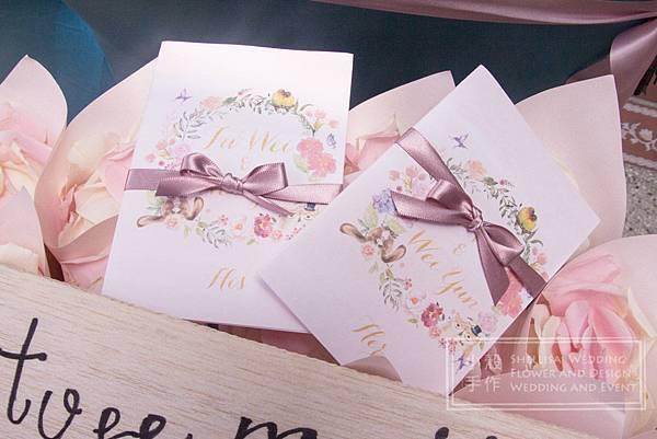 維多麗亞婚禮佈置 誓詞卡