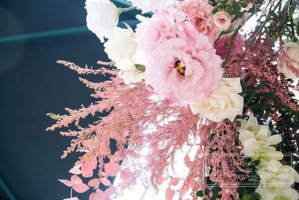 維多麗亞酒店粉色花拱門 戶外婚禮佈置