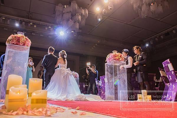 美福飯店歐風圖騰婚禮佈置