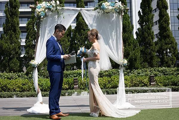 萬豪酒店  證婚佈置