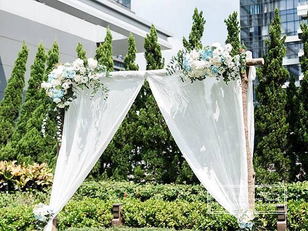 萬豪 花拱門 美式婚禮佈置