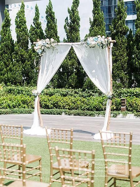 萬豪酒店 花拱門 戶外婚禮