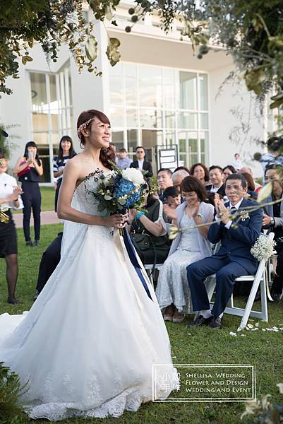 藍色新娘捧花