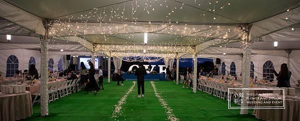 心之芳庭燈泡婚禮佈置