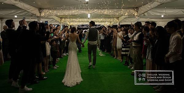 心之芳庭戶外婚禮佈置light theme wedding
