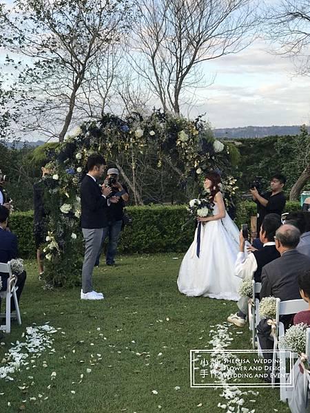 心之芳庭婚禮布置 花拱門