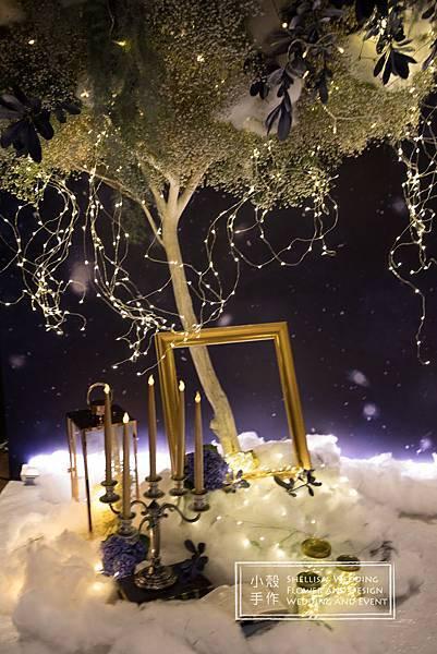 君品酒店雪景星空花樹