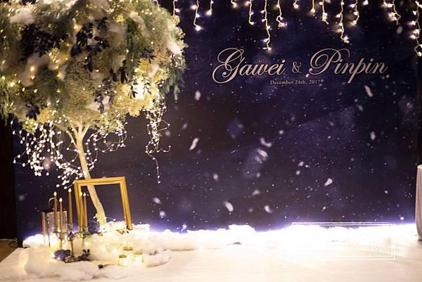 星空婚禮背板