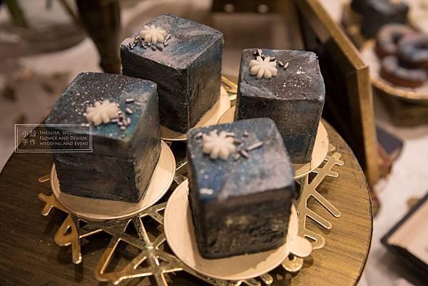 寒舍艾美酒店愛麗絲主題婚禮藍色candy bar