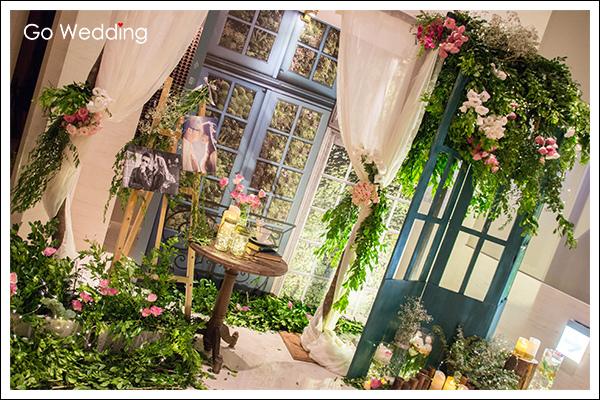 萬豪酒店森林風婚禮佈置