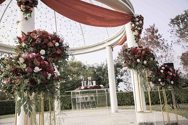 中式戶外婚禮佈置