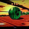 wii sport resort 射箭遊戲隱藏版箭靶 中級-2 西瓜