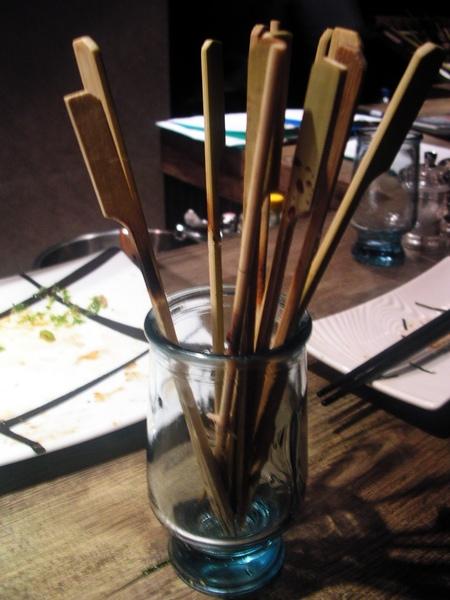 吃完的串燒籤