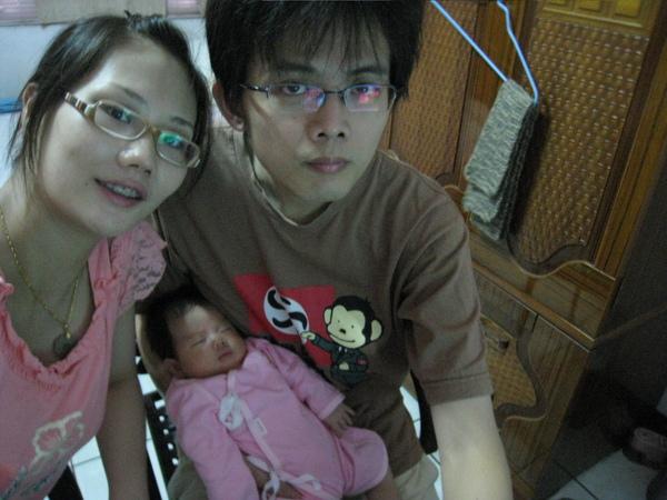 回台南跟爸爸媽媽住一個星期