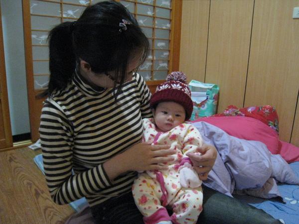 戴上媽媽去日本買的帽子