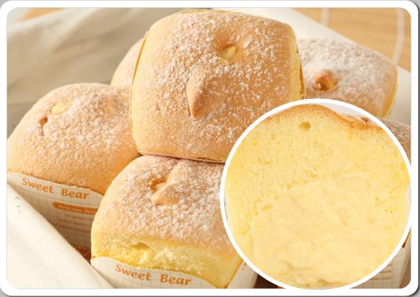【順觀泰蛋糕】北海道戚風蛋糕泡芙飽滿的餡料