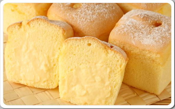 【順觀泰蛋糕】北海道戚風蛋糕泡芙-內餡有飽滿的卡式達醬