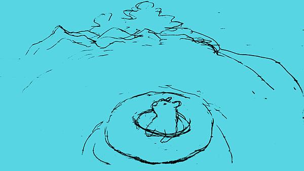 山海盡頭的游泳池