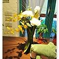 鞋櫃上的花