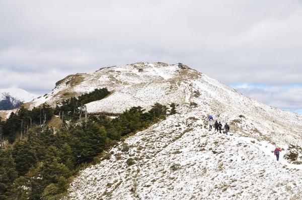 山頂的雪好像是蛋糕頂的糖霜