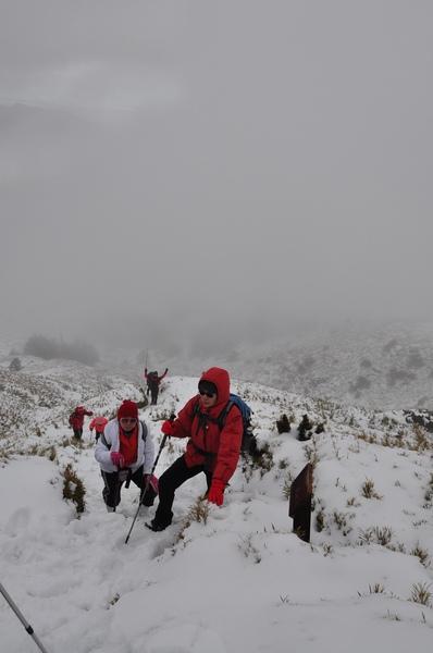 越接近山頂 氣溫越低