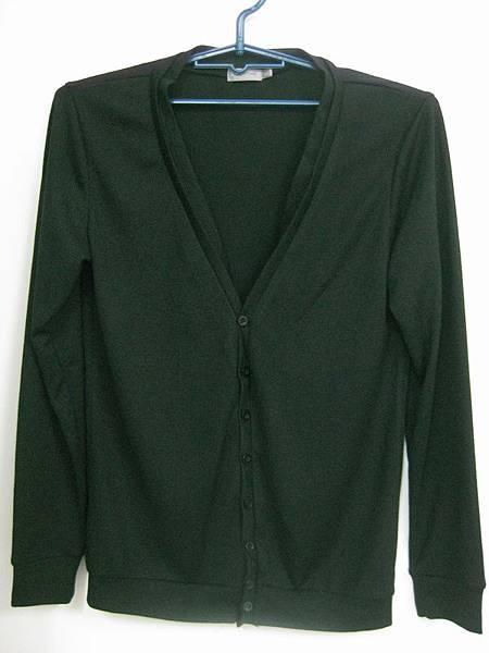 黑針織外套