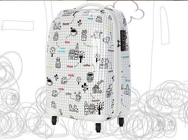 塗鴉行李箱