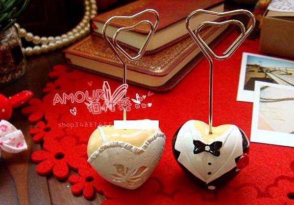 新娘新郎夾牌