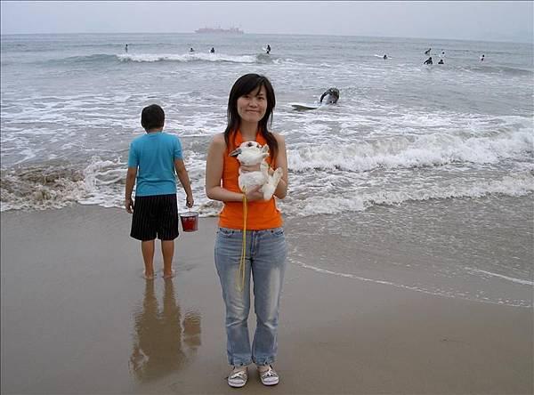 看到海就跑
