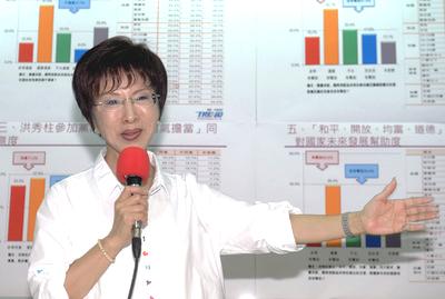 2015年05月29日洪秀柱公佈自做民調 支持度逾3成3
