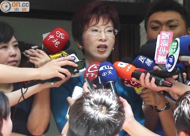 2015年05月31日洪秀柱籲蔡訪美要講真話