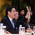 2015年11月14日總統出席「兩岸領導人會面」後國際記者會