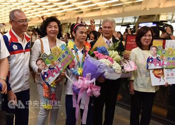 2016年08月28日中華民國金牌許淑淨領軍 里約奧運女子舉重凱旋歸國