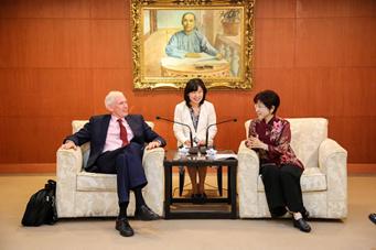 2016年10月30日洪主席:兩岸政府關係冷凍 國民黨扮演溝通橋樑