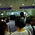 回程甲子園車站爆多人