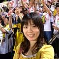 今天配合阪神顏色 特別選黃色的衣服