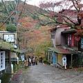 這條小徑是前往有名的賞楓景點-神護寺