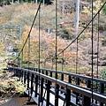 這座吊橋好美阿~可惜是私人餐廳的 入口還有警衛咧 要吃川床料理的人才能走...